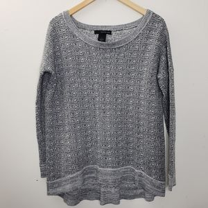 Calvin Klein Jeans Grey Knit Sweater Top Size M